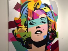 Marilyn | Lobo | Pop Art #lobopopart #artistabrasileiro #paintings #fineart #popart