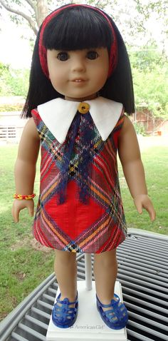 Classic Plaid 1960's / 1970's Dress for AG dolls Melody, Julie, Ivy by Designed4Dolls on Etsy  $14.95