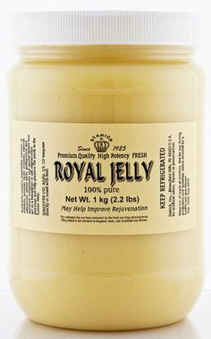 FRESH ROYAL JELLY 1 KG (2.2-LB) by Stakich. $95.00. PROMOTIONAL PRICE!!!  Research studies show that Royal Jelly contains vitamins A, B1,B2, B6, B12, D, E, Folic acid, Nicotinamide, Pantothenic acid, Minerals and 17 kinds of Amino acids. Royal jelly contains acetyl choline, enzymes, 10-Hydroxy-Decenoic acid which was found by Dr. Butanandt of Germany. The unusual nature of Royal Jelly has prompted many investigations into its chemical nature and pharmaceutical pro...