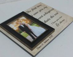 Wedding frame,parents thank you gift,personalised wedding frame ...