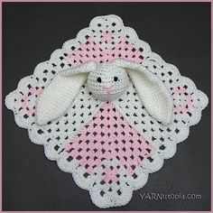2d7a1cd6a9 DIGITAL DOWNLOAD  PDF Written Crochet Pattern for the Mini Square Bunny  Lovey