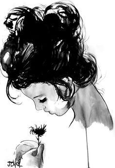 The Crown of Art: Loui Jover, The Keats Of Romantic Ink Drawing - #ink #inkdrawings #drawings #art #artistlife #inspiration #feminineform #figurativeart #interviews #blog #artblog
