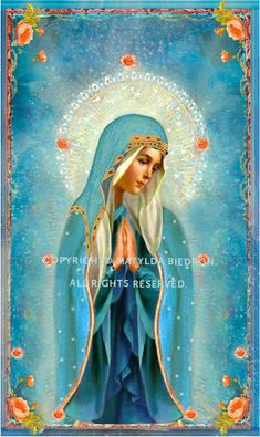 Little Office of the Blessed Virgin Mary: Preparation For Total Consecration To Our Lady, Day Divine Mother, Blessed Mother Mary, Blessed Virgin Mary, Religious Pictures, Religious Icons, Religious Art, Image Jesus, Queen Of Heaven, Sainte Marie