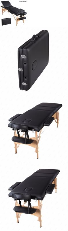 Massage Tables and Chairs: 84 L 3 Fold Portable Massage Table Facial Spa Bed Tattoo W Free Carry Case Black -> BUY IT NOW ONLY: $77.4 on eBay!