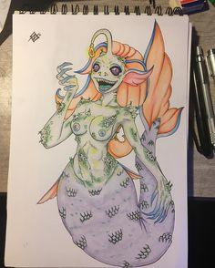 Uno de los pocos q me gustan que he echo #copic #freelancer #mermaid #sirenas #sketch #copicmultiliner #copicciao #policromo #instadraw #drawing #dibujochileno #ilustracion
