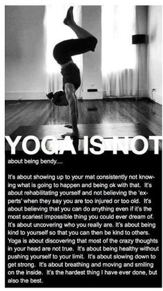 what yoga is and isn't....