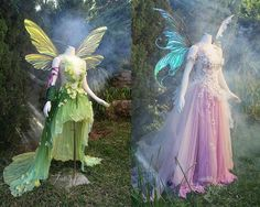*wings by *green gown inspired by Godmother Dress, Fairy Godmother, Faerie Costume, Fantasias Halloween, Fairy Clothes, Fantasy Gowns, Green Gown, Cinderella Dresses, Creative Costumes
