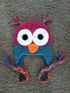 Baby Girls Owl Hat   www.etsy.com/shop/oneloopylady
