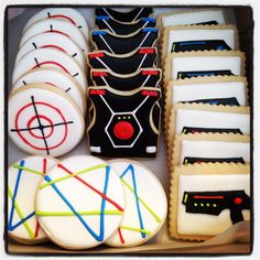 Laser Tag Cookies by SweetTreatSisters on Etsy