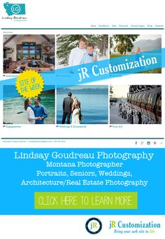@smugmug site of the week - Lindsay Goudreau Photography - Montana Portrait, Seniors, Weddings, Architecture / Real Estate Photography.  Click to learn more...
