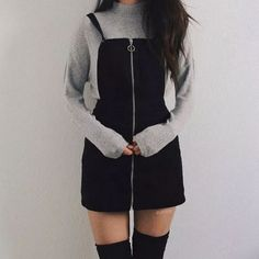 Cute Korean outfits must be in your wardrobe because they are classy, casual and perfect for winter and summer. They are very similar to grunge outfits so Korean fashion is perfect for you. - 5 Cute Korean Outfits That You Must Have In Your Wardrobe Teen Fashion Outfits, Teenage Outfits, Mode Outfits, Cute Fashion, Fashion Models, Fashion Fashion, Cute Korean Fashion, Night Outfits, Grunge Fashion