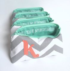 Pop the question: Will You Be My Bridesmaid? // Secret Message Makeup Gift Clutch Bag www.shopsandrasmith.com
