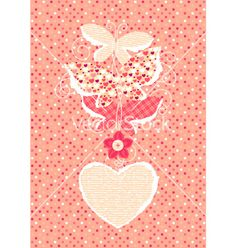Valentine day background with butterflies vector on VectorStock®