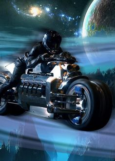 The Dodge Tomahawk V-10 Superbike is a Viper V-10 based motorcycle, complete with a 500hp engine and a whopping top speed of 420mph. The Tomahawk's wheels have independent suspension to handle the power of the engine. The most expensive model will cost up to $555,000, but comes equipped with 20-inch perimeter-mounted, drilled stainless steels rotors that are custom designed to a blue anodized caliper finish.