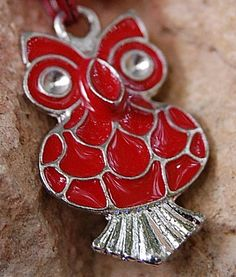 Red Owl Necklace Valentine's Day from sparklingbagcandy.com $9.99 with free USA shipping