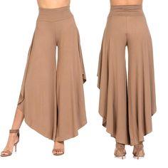 Elegant Irregular Ruffles Wide Leg Pants Women High Waist Pleated Casual Loose Streetwear Trousers K on Luulla Ruffle Fabric, Ruffle Pants, Pleated Pants, Skirt Pants, Ruffles, Wrap Pants, Cotton Pants, Loose Pants, Wide Leg Pants