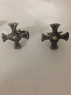 St. #cuthberts #cross r17 fine english pewter #cufflinks,  View more on the LINK: http://www.zeppy.io/product/gb/2/322178479593/