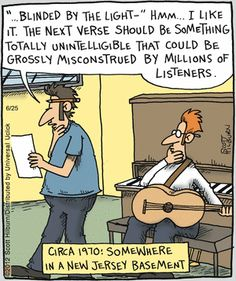 Bruce Springsteen's Blinded By The Light - the creative process...
