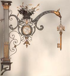audreylovesparis:  Paris Locksmith - sign c. 1760-1790