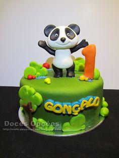 Doces Opções: O Panda foi ao primeiro aniversário do Gonçalo Panda Cakes, Cake Toppers, Ale, Birthday Cake, Desserts, Kids, Recipes, Food, Design