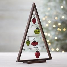 A Frame Ornament Trees in Christmas Decorating | Crate and Barrel