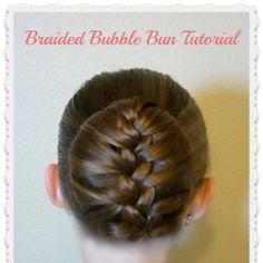 Braided Bubble Bun, Dance Hairstyle Tutorial