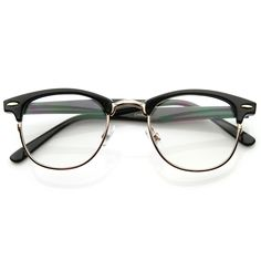 Classic half frame that features clear lenses for a sharp sophisticated look. An iconic frame that will have you looking fashionable in any situation..