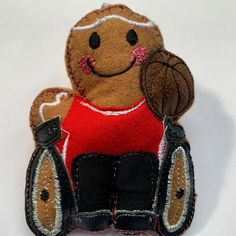 Wheelchair Basketball Paralympic Gingerbread man #wheelchairbasketball #wheelchairlife #paralympic #sportsman #athletes #basketball #basketballplayer #basketballtraining #basketballislife #basketballlove Basketball Is Life, Basketball Coach, Basketball Players, Birthday Gifts For Boyfriend, Boyfriend Gifts, Paralympic Athletes, Letterbox Gifts, Gingerbread Man, Unique Gifts
