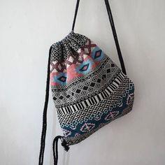 New 2017 Vintage Gypsy Bohemian Tribal Backpack with String Hippie Backpack, Vintage Gypsy, Vintage Backpacks, Boho Bags, String Bag, Bohemian Gypsy, Printed Bags, Boho Jewelry, Drawstring Backpack