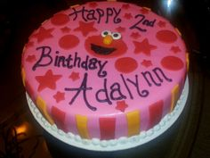 Elmo bday cake