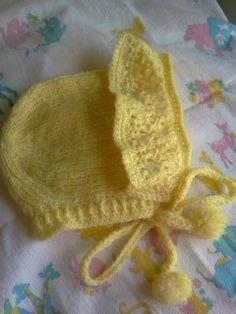 Vintage Knit Baby Bonnet