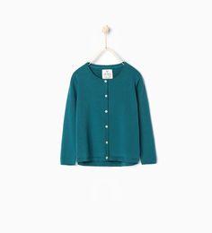 Zdjęcie 2 Sweter z dzianiny zapinany na guziki z Zara