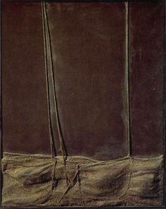 Relieve con cuerdas (1963). Fundación Antoni Tápies.