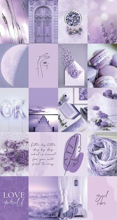 Spice up your room with this soft purple lavender aesthetic wall collage kit!