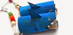 Prismáticos de tiburón #manualidades
