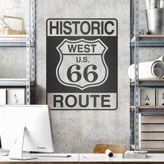 Historic Route 66 - VINILOS DECORATIVOS #teleadhesivo #decoracion #ruta66