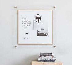 Home Office Furniture Design, Modular Walls, Wall Organization, Dry Erase Board, Pottery Barn, Gallery Wall, Brass, Simple, Amp