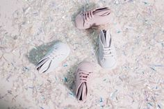 Baby Bunnies in all white and all powder for a solid style from the start. Head over to @minnaparikkamini for more kicks for tiny feet. Minna Parikka Baby Bunnies in all white and all powder