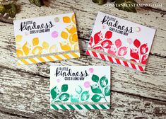 Notecards by Connie Collins using Stampin' Up! Kinda Eclectic stamp set.