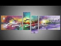 Learn How to Paint Abstract Painting with Acrylics video - Antigone by J...