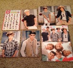 One-Direction-1D-Panini-Photocards-2012-Lot-Of-8