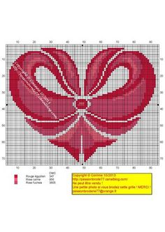 amour - love - coeur -  point de croix - cross stitch - Blog : http://broderiemimie44.canalblog.com/