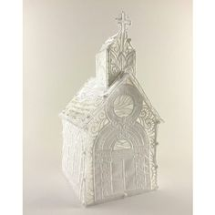 The Victorian Church!  This has 251,432 intensive embroidery stitches, stands approximately 9 1/4 inches tall, by 4 3/4 inches wide, and 5 3/4