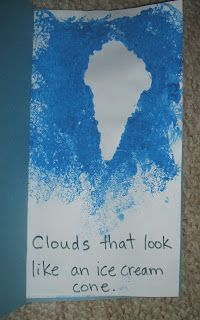 fun4kids: Weather- Clouds and Rain - activity for It Looked Like Spilt Milk book.
