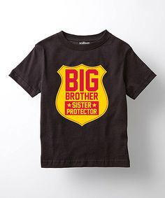 Another great find on #zulily! Black 'Big Brother Sister Protector' Tee - Toddler & Boys #zulilyfinds