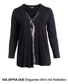 Elegantes Damen T-Shirt Via Appia Due, Elegant, Tunic Tops, Blouse, Long Sleeve, Sleeves, Women, Fashion, Eagle