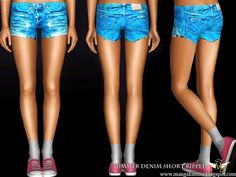 Summer Denim Short Ripped by ManGaKa - Sims 3 Downloads CC Caboodle
