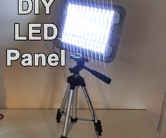 Today I am going to show you how to make a bright and cheap LED panel. I wanted… Grow Lights For Plants, Led Grow Lights, Work Lights, Led Panel Light, Led Work Light, Led Light Strips, Diy Electronics, Electronics Projects, Led Video Panels