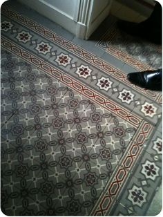 Another great shoe pic with cement tile floor backdrop. Tile Inspiration, Tiles, Floor Design, Tile Design, Deco, Beautiful Tile, Home Deco, Cement Tile, Flooring