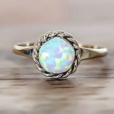 Opal Zuni Ring - White